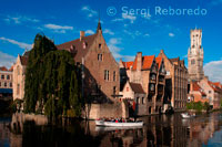The Belfry of Bruges, Belfort (Medieval Bell Tower), Rozenhoedkaai, Bridge over Dijver Canal