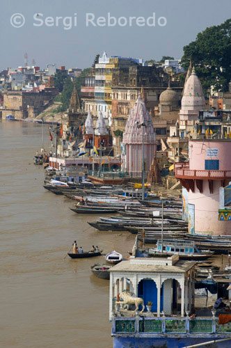 "INDIA CROSSING THE RIVER GANGES Varanasi Ghats are perhaps the most holiest place in the world; where one is relieved from all the worldly responsibilities and one enters into a domain that is dominated by the other worldly pleasures. Varanasi is often referred to as the ""City of Ghats"". The city can boast of more than 100 ghats; out of which some are known all over the world. As Varanasi is situated on the banks of the Ganges; so most of the mundane day to day activities take place on the ghats.; Some of the important Ghats of Varanasi are: Assi Ghat is situated in the south of Varanasi; which symbolizes the convergence of Ganga and Assi river. Dasaswamedh Ghat is one of the most important and lively ghats of Varanasi where one can see the Sadhus offering prayers to the holy Ganga. Harish Chandra Ghat is one of the oldest ghats; which serves as one of the cremation grounds of Varanasi. Manikarnika Ghat is another cremation ground of Varanasi. It is believed that one who is cremated here is released from the cycle of birth and rebirth. Tulsi Ghat is dedicated to poet Tulsi Das. All the cultural activities takes place in this ghat. The Ghats of Varanasi serve multiple purpose. While on one hand; pilgrims and tourists can offer prayers; on the other hand they serve as important commercial centers.; Many people go to the ghats to relieve themselves of the strains and tensions of daily life. The Ghats are an indispensable part of Varanasi that adds to the grandeur and grace of the city."