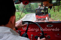 "Interior of the Willys Jeep that runs between Salento and Valle de Cocora. Salento is the Municipality ""Quindío Father"", has a topography and a lovely setting that makes it a unique destination for any visitor wishing to enjoy the benefits of green Quindiano. The paradise that offers Salento has two contradictory perspectives, one urban and one rural, but equally enigmatic and enchanting. The municipal seat offers a beautiful skyline with its colorful houses with large balconies adorned with flowers, in a clear demonstration of the inheritance left by settlers from Antioquia, who on horseback and mule captured these beautiful places. Within Salento main attraction is the so-called Calle Real, which extends from the main square of town to the stairs leading to the lookout. This street is beautiful by a series of typical buildings that enclose the mysterious air that has the architecture histórica.Por its part, the Mirador offers a wonderful panorama of what the Quindiano coffee landscape and the magnificent slopes that give entrance to National Park Nevados natural beauty and extensive Cocora Valley. Salento is a town to enjoy it in all its forms, both urban and rural, and in different ways, walking in their historical and traditional streets or on horseback, or if you prefer, one of the traditional Jeep Willys or Yipaos as they are known in the region."